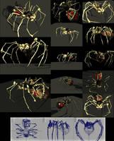 Bone Spider - 4890 Polygons by reversenorm