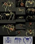 Bone Spider - 4890 Polygons