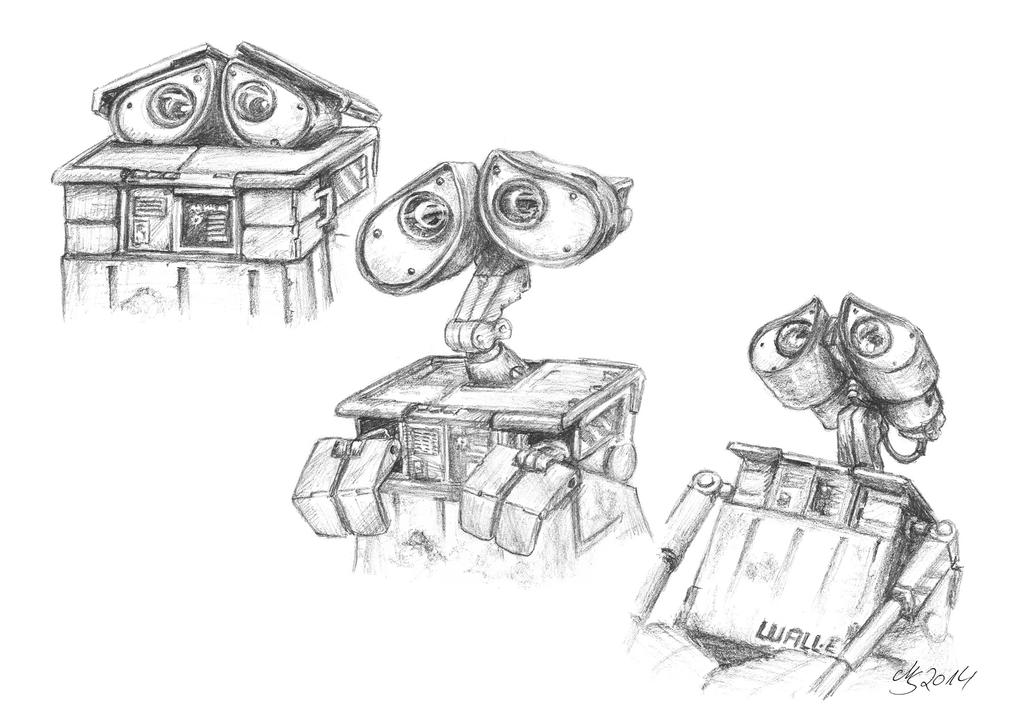 Wall-e - facial expressions by SarembaArt on DeviantArt