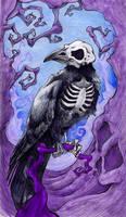 Dark Raven (colored) by SarembaArt