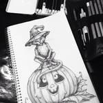 Drawing Magic Cat by SarembaArt