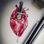 Stabbed heart by SarembaArt