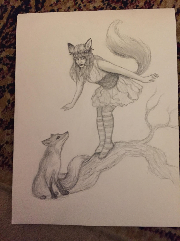 Fox Fairy by Sidhe-Etain