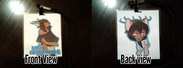 Front and Back View - Con Badges 2012