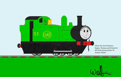Oliver The Little Western Engine (my style) by Okamitaro