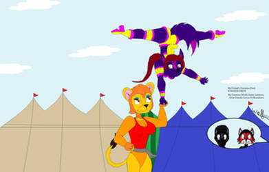 Avlar Family Circus Balancing Act! (Me n' BC95 RP) by Okamitaro