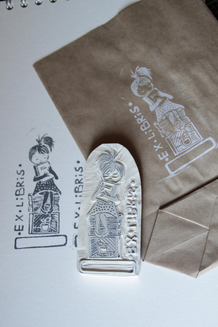 Ex libris stamps hand carved by aure en on deviantart
