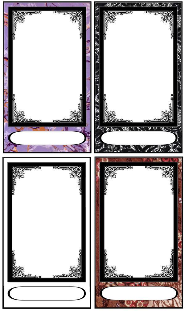 Tarot card templates by FarArden
