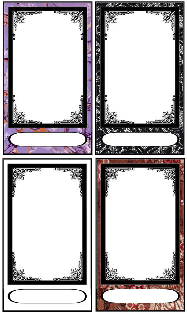 tarot card templates by fararden on deviantart