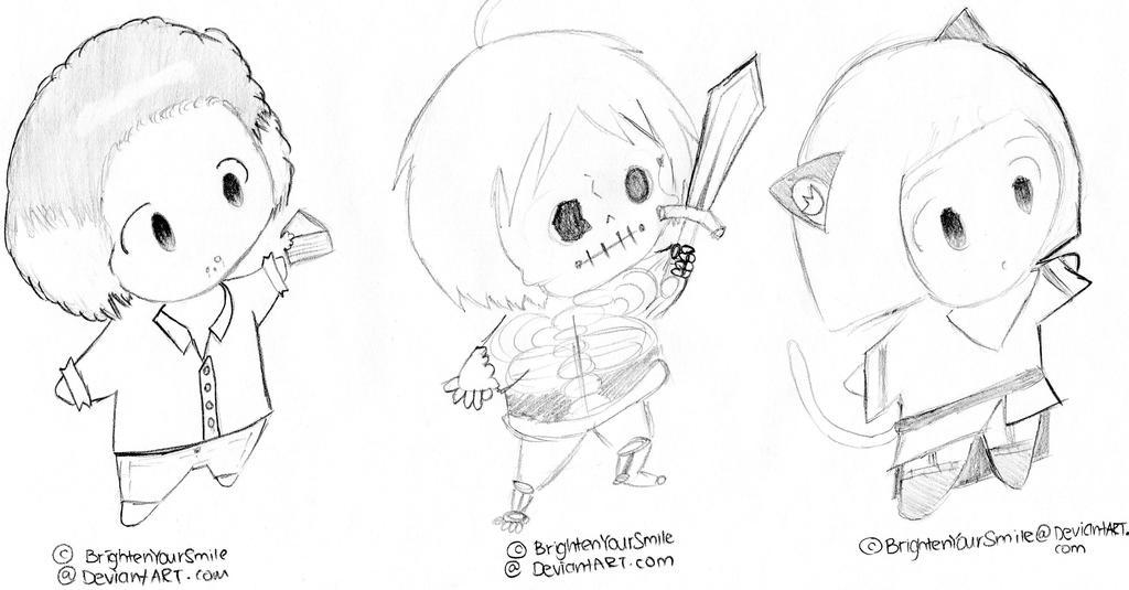 Free Chibi Sketch Set 8 by bunnydesuuu