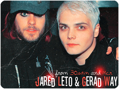 Jared Leto and Gerad Way by o0lyla0o