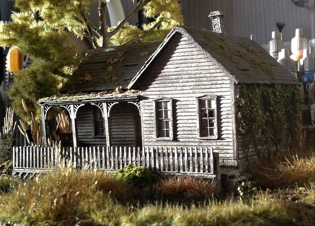 Diorama - The abandoned cabin