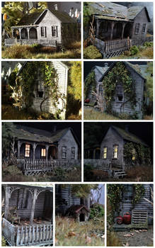 Diorama - Abandoned Cabin (Collage)