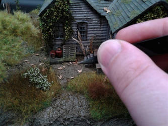 Abandoned Cabin Diorama - Scale reference shot