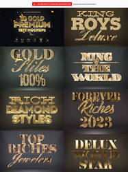 3D Gold Text Effect Quality Photoshop 3D by DiamondTemplates