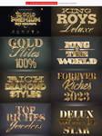3D Gold Text Effect Quality Photoshop 3D by DiamondTemplates
