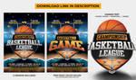 Basketball Game League Flyer by DiamondTemplates