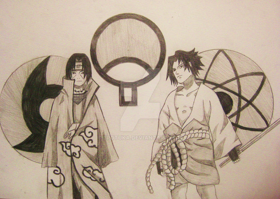 sasuke and itachi uchiha by 3potuka