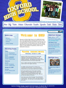 Oxford High School Website