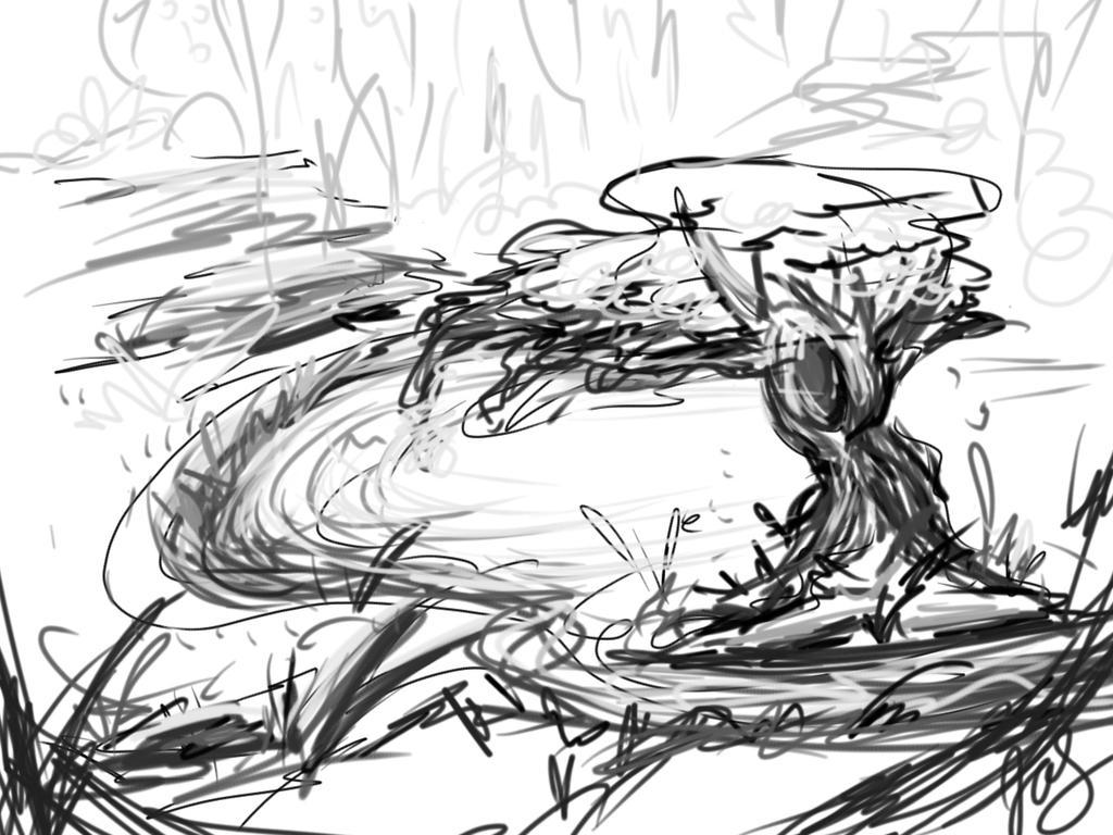 Landscape sketch by jas7229