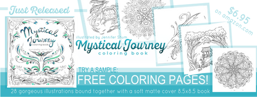 Mystical Journey Coloring Book - FREE Pages! by jas7229