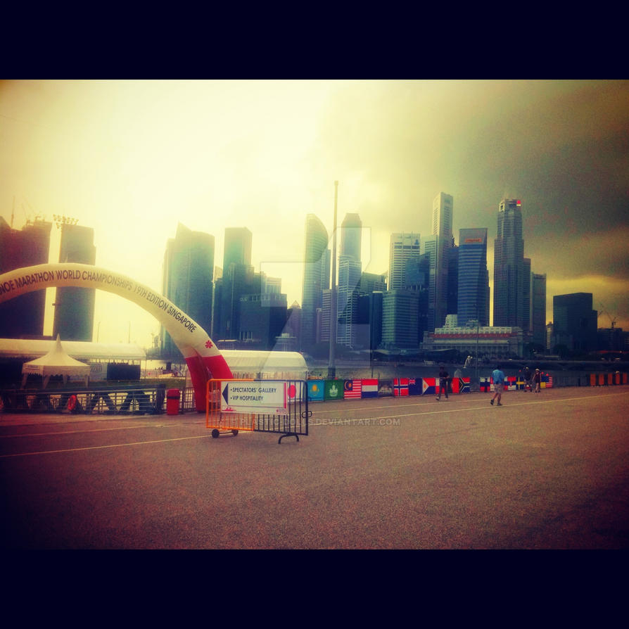 Marina Bay Sands // Late Afternoon by Plastic-Dolls