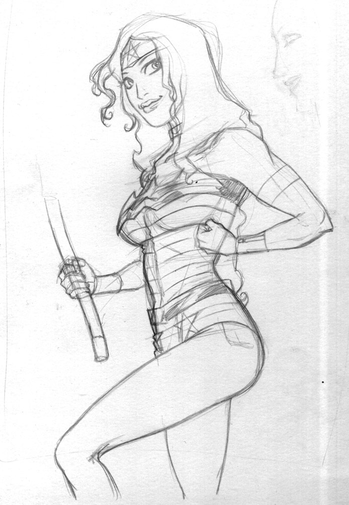 Wonder Woman Sketch by Fredgri
