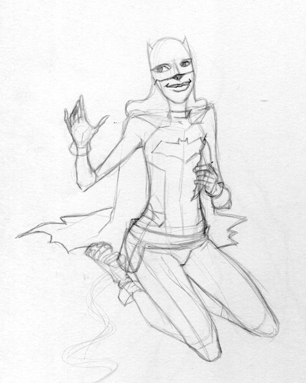 Batgirl sketch by Fredgri