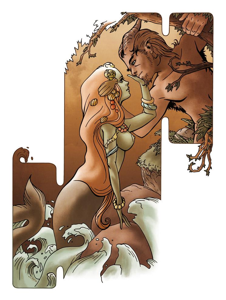 Sirene et Faune by Fredgri