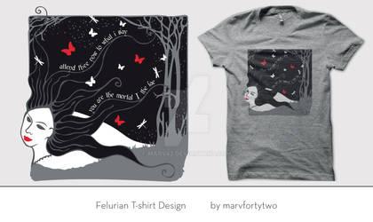 Pat Rothfuss Felurian T-shirt design