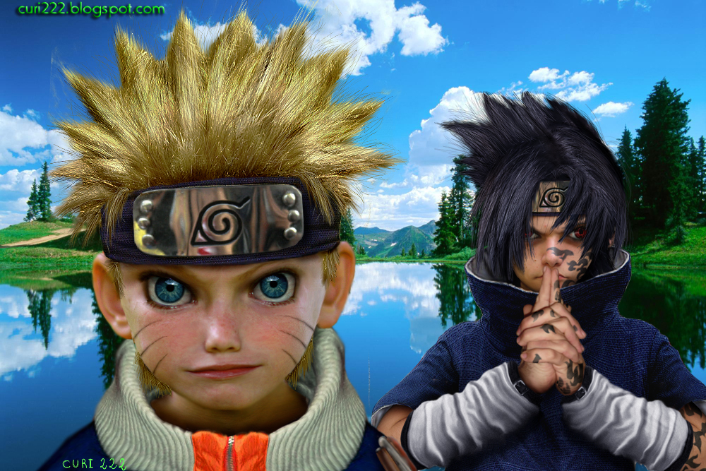 Untooned Naruto Sasuke papiel by curi222