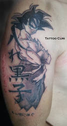 Tatuaje Son Goku - Tattoo Dragon Ball by curi222