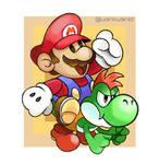 Paper Mario and Yoshi Kid
