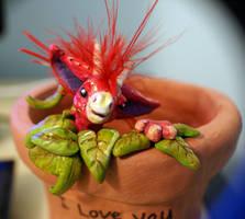 Strawberry Dragon by Mazzy-elf