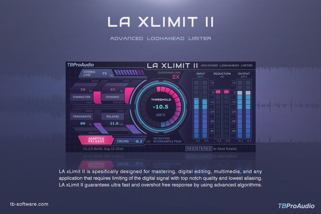 LA xLimit II from TBProAudio - New GUI