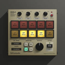ISOL8 - Mixing and Mastering Monitor - GUI Design