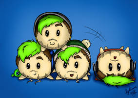 Cute Lil' JackaLoafs by NigthmareWolf