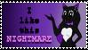 Wolfie Stamp  by NigthmareWolf