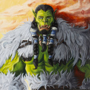 Acrylic painting of Thrall