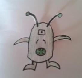 Green alien by Adw1nk