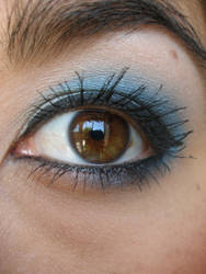 Blue 3 eye stock