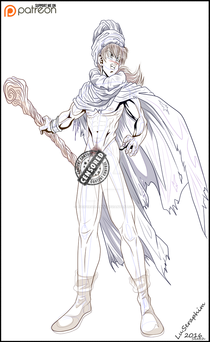 Dragon Quest Sketch by LuciferSeraphim