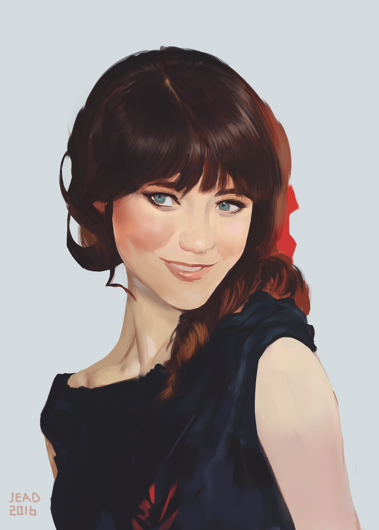 Zooey-study by Bomb-a-Jead