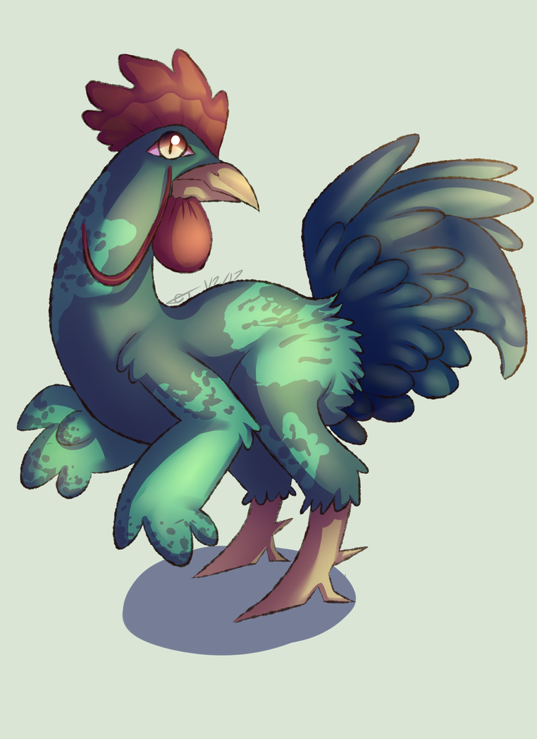 (Art Trade) Enter Year of the Rooster by GentlemanTurtle101