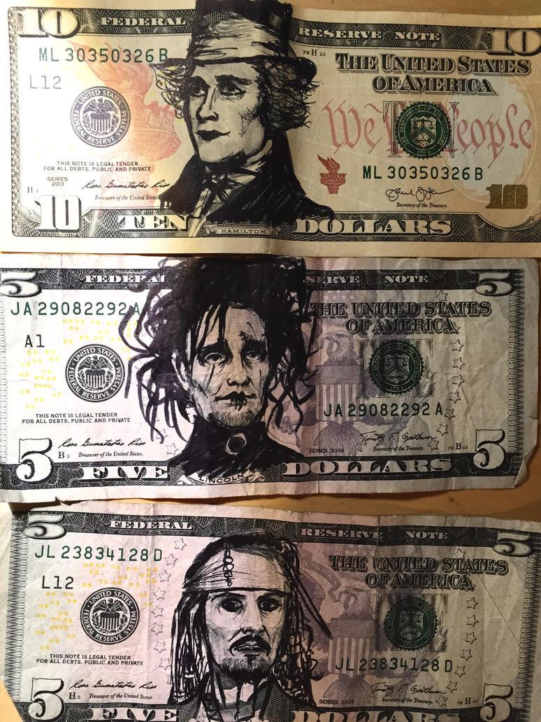 Johnny Depp cash present by Yiliana