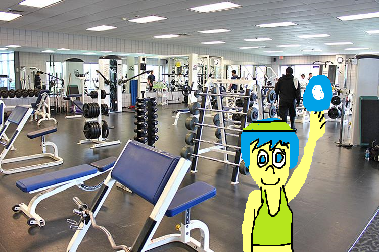 Joy exercising at the ymca workout room by