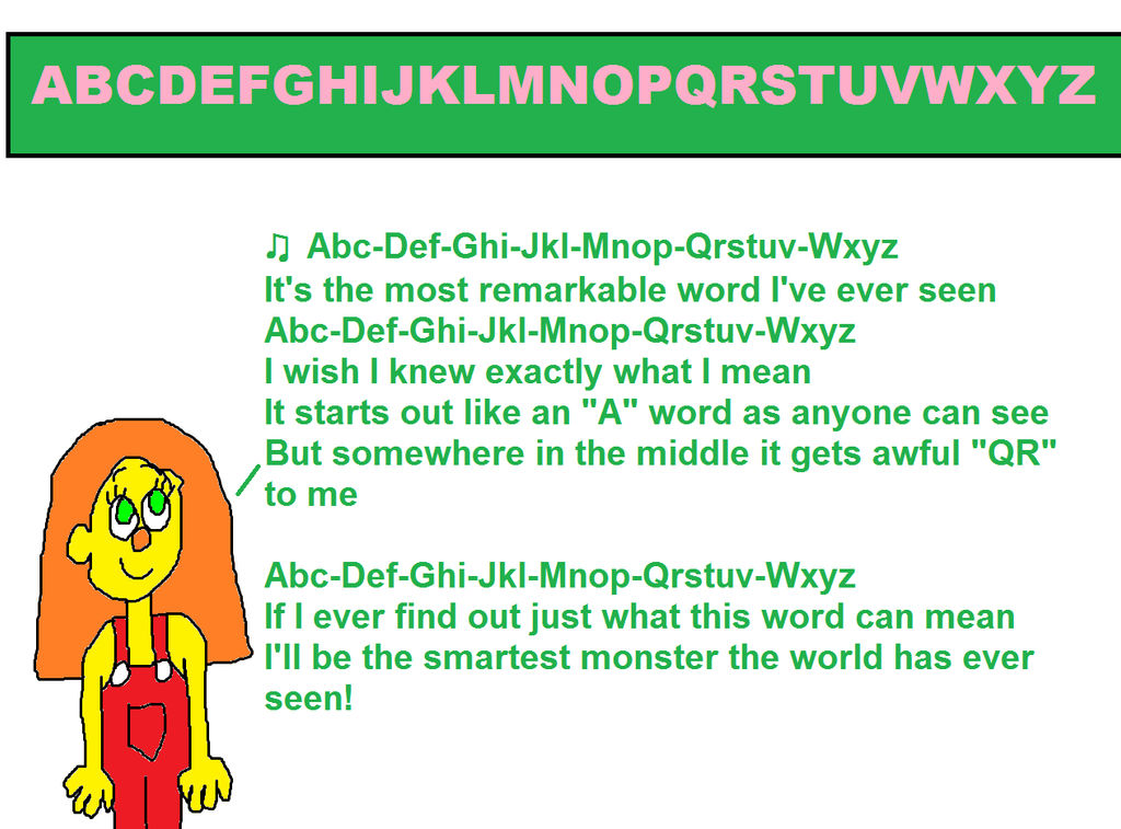 Sunny Monster Singing the ABC-DEF-GHI Song by MikeJEddyNSGamer89 on