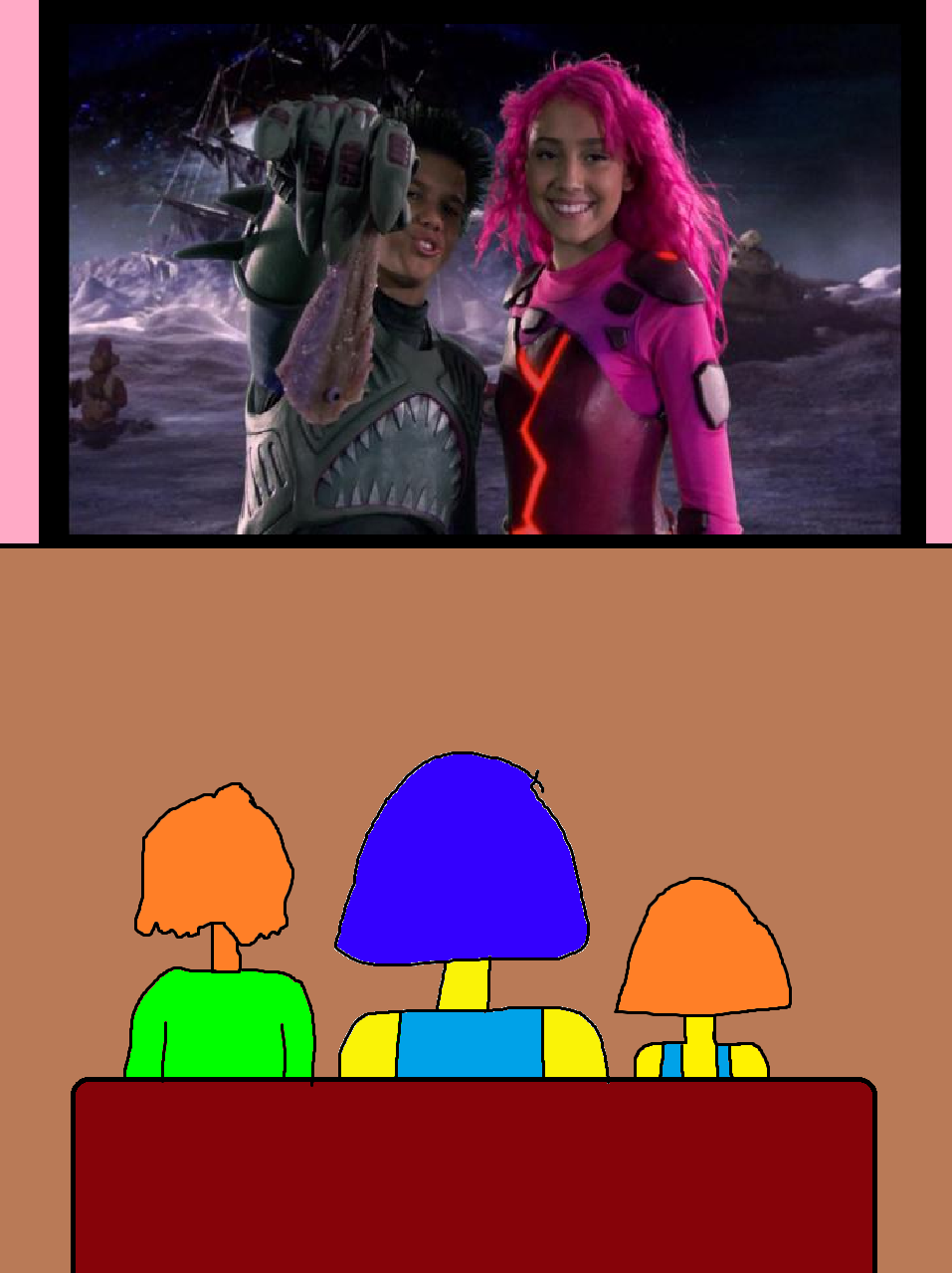 how to draw sharkboy and lavagirl