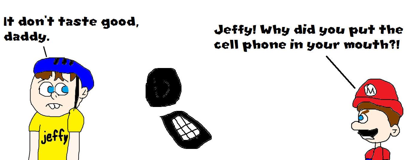 Jeffy Put the Cell Phone in his Mouth! by MikeJEddyNSGamer89 on