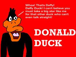 Daffy Duck Misprint for Donald Duck by MikeJEddyNSGamer89
